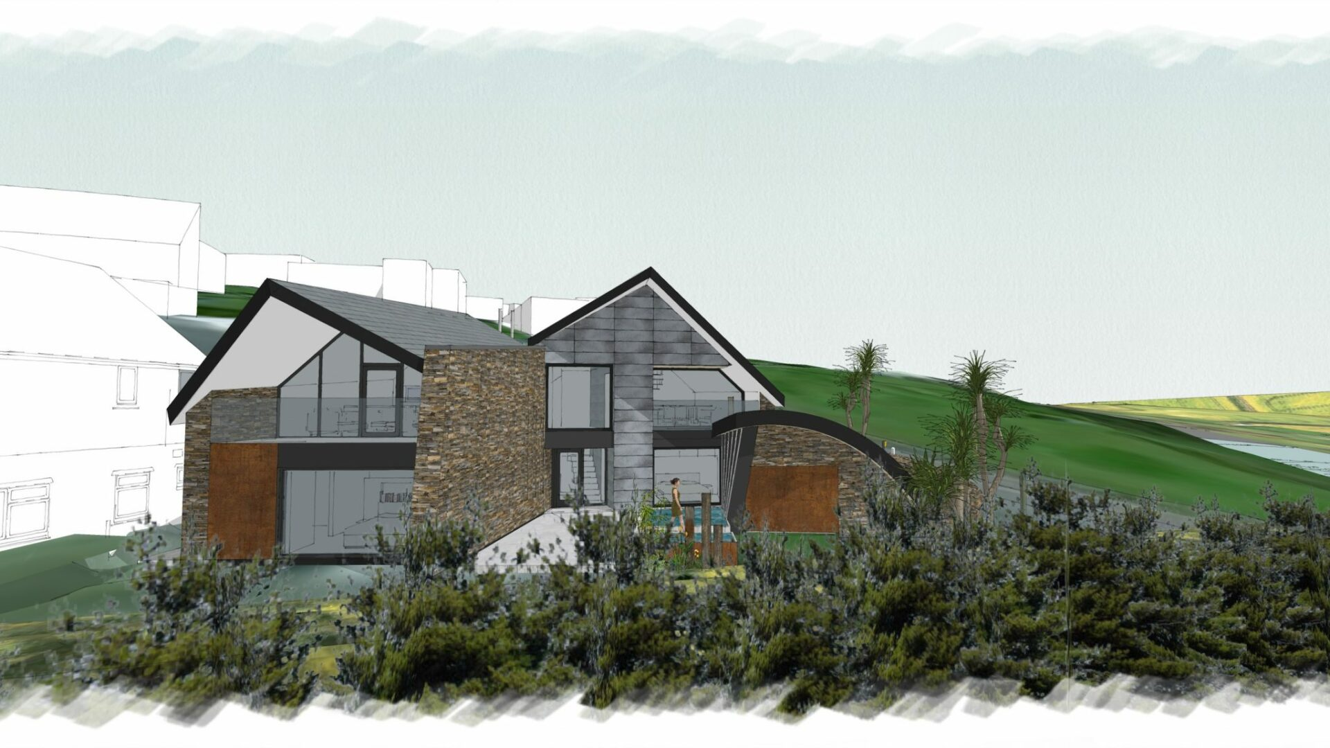 New Build Architectural Project Mawgan Porth Cornwall