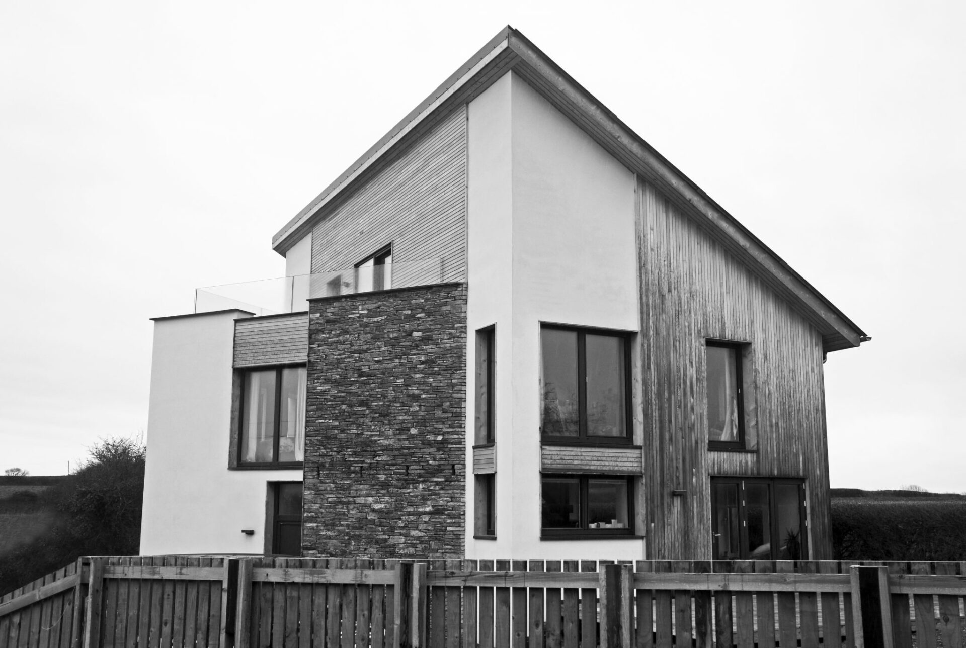 ARCO2 designed low energy house St Minver Cornwall