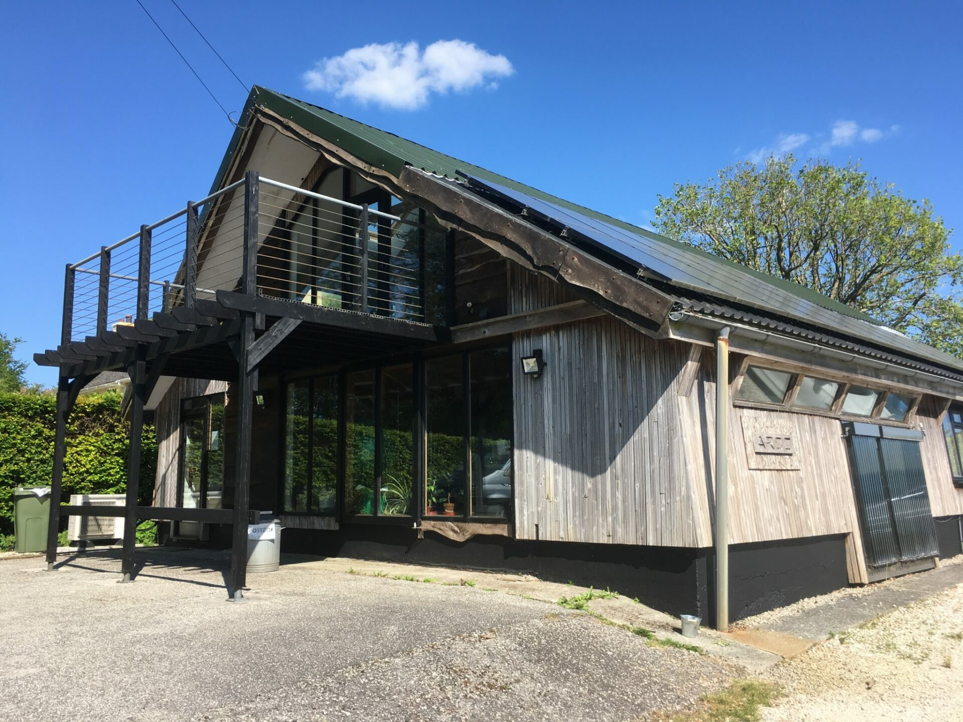 Sustainable office building designed and built by ARCO2 in Bodmin
